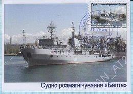 UKRAINE / Maidan Post / Maxi Card / Military Equipment. Navy. Ship Degaussing Balta 2016. - Ukraine
