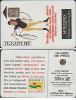 F125  TELECARTE MONOPRIX 120 U BODIES 5 IMPACTC N°18333 - Varietà