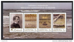 LITHUANIA 2005 Ciurlionis Paintings Block MNH / **.  Michel Block 32 - Lituanie