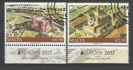 Malta  2017 , EUROPA  CEPT  Schlösser Und Burgen - Gestempelt / Used / (o) - 2017