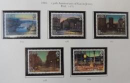 Jersey 1981 Anniv Gas Light Set Of 5 Values Unmounted Mint - Jersey
