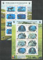 2 Pcs MONGOLIA - KYRGYZSTAN - MNH - Animals - Horses - WWF - Chevaux