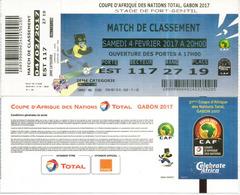 Football. Ticket Coupe D'Afrique Des Nations Au Gabon, Stade De Port-Gentil. 4 Fevrier 2017, Etat Neuf - Tickets - Vouchers