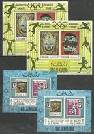 2 Pcs RAS AL KHAIMA - MNH - Sport - Olympic Games - Perf. + Imperf. - Timbres