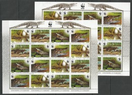 2x CUBA - MNH - Animals - Reptiles - Crocodiles - WWF - Reptiles & Batraciens