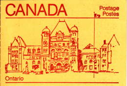Canada 1985 Booklet BK84c Sc #946b Pane Of 4 Maple Leaf With 2 Labels - Carnets Complets
