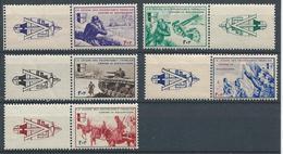 FRANCE 1942 - YT LVF N°6 à 10 Avec Vignette - Série Borodino - F+1F - Neuf** - TTB Etat - Wars