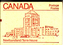 Canada 1983 Booklet BK84a Sc #946b Pane Of 4 Maple Leaf With 2 Labels Counter Copy - Carnets Complets