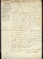 Minitère De La Justice 1811 : 1 Feuille (21 X 31 Cm), Texte Sur 1 Page, Papier Taché, Voir Scan. - Documents Historiques