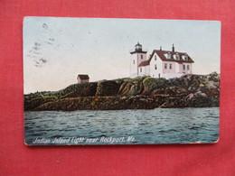 Indian Island Light House Near Rockport - Maine  -  Ref 3237 - Stati Uniti
