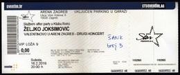 Croatia Zagreb 2019 / Zeljko Joksimovic / Valentines Day / Music, Concert / Arena / Entry Ticket - Tickets - Vouchers