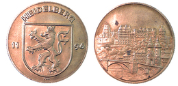 03359 GETTONE TOKEN JETON FICHA LOCAL MUNICIPAL HEIDELBERG 1196 - Allemagne