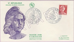 Enveloppe FDC - France - Vème République (Paris Le 5 Janvier 1959) - FDC