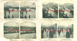 ATHENS Olympics. 1906 - Lot Of 4  Stereoscopic Cards -  Greece - Stereoscopio