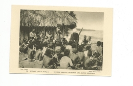 CPA Océanie Iles Du Pacifique Un Père Mariste Catéchise Les Jeunes Indigènes - Postcards