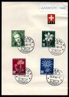 Schweiz Suisse Pro Juventute 1946: Zu 117-120 Mi 475-478 Yv 433-436 Auf PTT-Blatt Mit O LUGANO 30.XI.46 (Zu CHF 275.00) - FDC