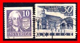 SUECIA .. SVERIGE (EUROPA ) 2 SELLOS AÑOS DIFERENTES - Suecia