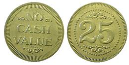 03363 GETTONE TOKEN JETON GAMING 25C NO CASH VALUE - Casino