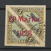 FAUX Estonia Estland 1923 Michel 44 B Alter Fälschung Old Forgery Fake O - Estonie