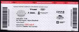 Croatia Zagreb 2019 / Arena / Handball / HC PPD Zagreb - Skjern Handbold, Denmark / Entry Ticket - Tickets D'entrée