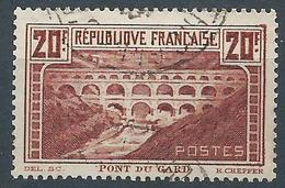 FRANCE - 1929/31 - N°262A - 20f. Chaudron - Pont Du Gard - Oblitéré - TTB - Francia