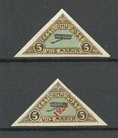 ESTLAND ESTONIA 1920/23 Michel 14 & 41 * - Estonia