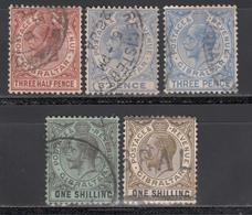 1921-32  YVERT Nº 75, 78, 78A, 80, 81, - Gibraltar