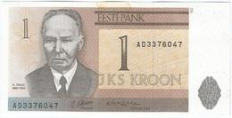 Estonia 1 Kroon 1992 Pk 69 A Ref 1 - Estonie