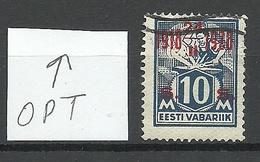 ESTONIA 1928 Michel 70 ERROR Abart OPT Stark Nach Oben Verschoben OPT Swift Upwards - Estland