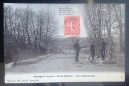 Tres Belle Carte Photo Petit Village Bourg Madame Cerdagne Francaise Animée - Autres Communes