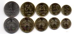 Tajikistan - Set 5 Coins 5 10 20 50 Diram 1 Somoni 2011 UNC Lemberg-Zp - Tajikistan