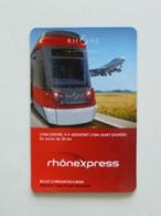 TRAMWAY / AVION - Tram Train - RHONEXPRESS LYON - AEROPORT SAINT EXUPERY / Magnet - Transports