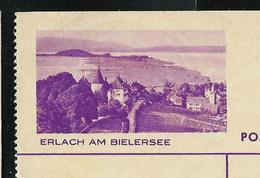 Carte Illustré Obl. N° 139 Y - 076   ERLACH AM BIELERSEE   Obl. 29/06/38  (Zumstein 2009) - Entiers Postaux