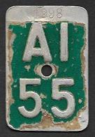 Velonummer Appenzell Innerrhoden AI 55 - Plaques D'immatriculation