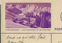 Carte Illustré Obl. N° 139  - 002  ADELBODEN - AUTOVERKEHR IM WINTER  - Obl. Lausanne  18/08/1938  (Zumstein 2009) - Entiers Postaux