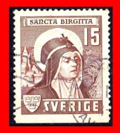 SUECIA .. SVERIGE (EUROPA )  SELLO AÑO 1941 St. BRIGET OF SWEDEN - Suecia