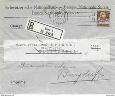 """162 - 58 - Entier Postal Privé Recommandé """"Banque Nationale Suisse"""" 1926 - Entiers Postaux"""