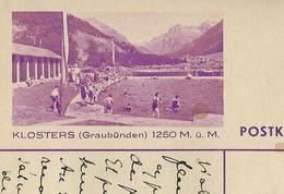 Carte Illustré Obl. N° 139  - 0107  KLOSTERS (Graubünden) 1250 M. ü. M.   Obl. Neuchâtel 26/04/1939  (Zumstein 2009) - Entiers Postaux