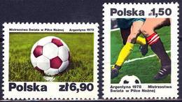 Polonia. Poland. 1978. Mi 2557 / 58. 11th World Cup Soccer Championships. Argentina - Copa Mundial