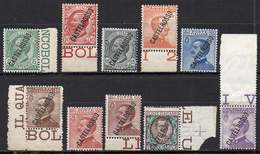 CASTELROSSO / CASTELLORIZO 1924. The Complete Set Of 10 Values, Mint NH - Castelrosso