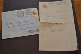 Lettre 23/12/1953 Madagascar Archipel Kerguelen Sur Le SS St MARCOUF Avec Courrier Missions Aux Iles Australes - ...-1955 Préphilatélie