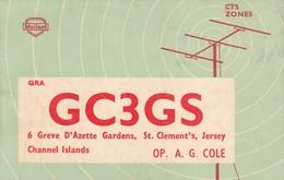 Rare Carte Radio Amateur Iles St Clément , Jersey ..GC3GS - Radio-amateur