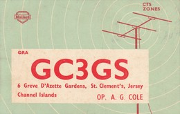 Rare Carte Radio Amateur Iles St Clément , Jersey ..GC3GS - Radio Amatoriale