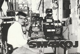 Rare Carte Radio Amateur Suède SKQJ - Radio-amateur