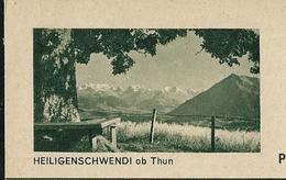 Carte Illustrée Neuve N° 182 - 0163 H    HEILIGENSCHWENDI Ob Thun  (Zumstein 2009) - Entiers Postaux