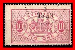 SUECIA .. SVERIGE (EUROPA )  SELLO AÑO 1881-95 - Suecia