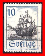 SUECIA .. SVERIGE (EUROPA ) SELLO TEMATICA BARCOS - Suecia