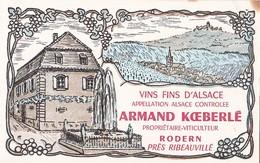 Vins D'Alsace Armand Koeberlé Rodern (Ht Rhin) Prix Courants - Alimentaire
