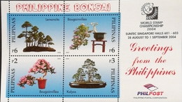 Philippines 2004 Bonsai World Stamp Championship,Singapore S/S - Stamps