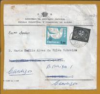 Rara Carta Do SR Com Stamp Oficial De Aveiro, Reexpedida Lisboa Stamp Europa 1963. Rare Letter From SR With Official. - Brieven En Documenten